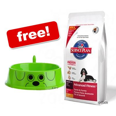 Large Bags Hill's Science Plan + zooplus Dog Bowl Free! - Mature Adult 7+ Light Chicken (12 kg)