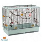 Ferplast Bird Cage Piano 6 for Budgies - Base granite, bars black - Bird Supplies