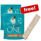 2 x 1.5 kg Purina ONE + Sisal Cat Scratching Board Free! - Sensitive (2 x 1.5 kg)