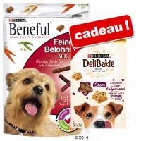 126/150 g de bâtonnets Beneful + 320 g de snacks DeliBakie ! - Beneful, bâtonnets - 126 g + DeliBakie Stars Biscuits