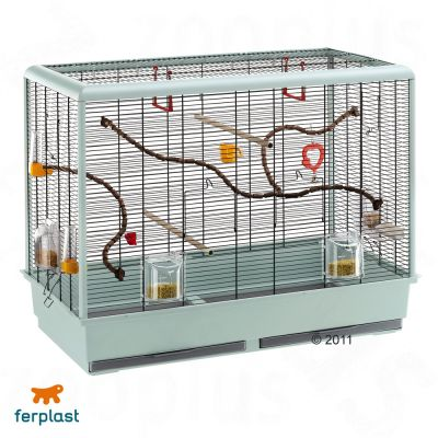 Ferplast Piano 6 Bird Cage - granite/black: 87 x 46.5 x 70 cm (L x W x H)