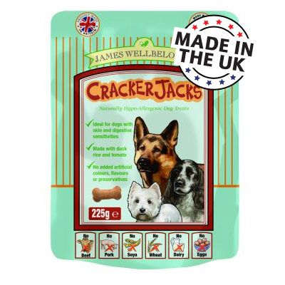 Crackerjacks Hypo-allergenic Dog Treats - Duck 225 g