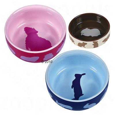 Trixie Ceramic Food Bowl for Small Pets - Guinea Pig 250 ml, Ø 11 cm