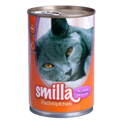 Boîtes pour chat Smilla poisson 6 x 400 g- thon & légumes