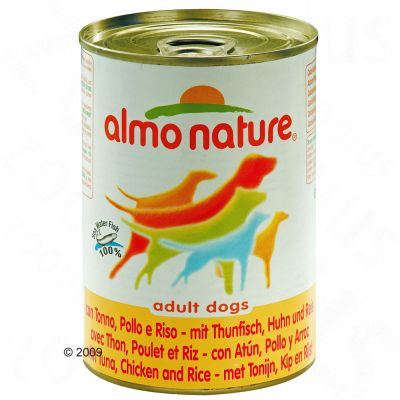 Almo Nature Sparpaket 12 x 400 g - Thunfisch mit Huhn & Reis