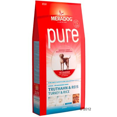 Mera Dog pure Junior Turkey & Rice - Economy Pack: 2 x 12.5kg