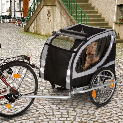 Bike Trailer for Dogs No Limit Doggy Liner Deluxe - 147 x 96 x 90 cm (L x W x H) / up to 50 kg