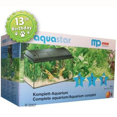 MP Aquastar 60 Aquarium Set - MP Aquastar 60, black, no cabinet