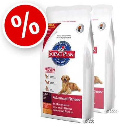 Hill's Adult Advanced Fitness Large Breed with Chicken - Economy Pack: 2 x 12 kg