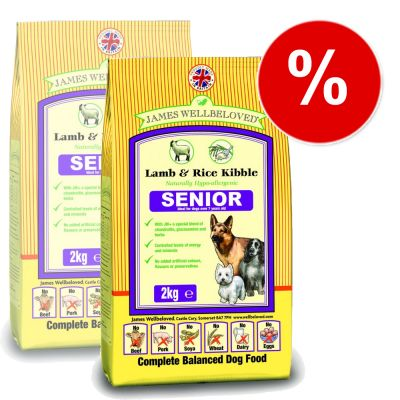 James Wellbeloved Complete Senior Lamb & Rice - Economy Pack: 2 x 15 kg