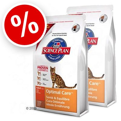 Science Plan Feline Adult Optimal Care Lamb - Economy Pack:  2 x 10 kg