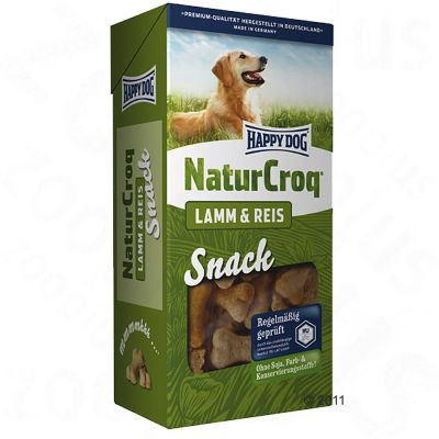 Happy Dog Natur Croq Snack Lamb & Rice - Saver Pack: 4 x 350g