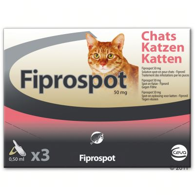Antiparasitaire pour chat Fiprospot spot-on- 3 pipettes