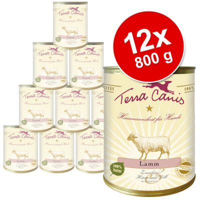 Terra Canis 12 x 800 g Saver Pack - Beef with Vegetables, Apples