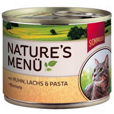 Schmusy Nature`s Menü  6 x 190 g - Venison, Tuna & Pasta