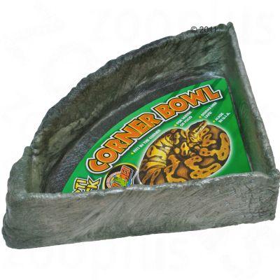 Mangeoire et abreuvoir d´angle de Zoo Med- dimensions : 35,5 x 35,5 x 8,9 cm