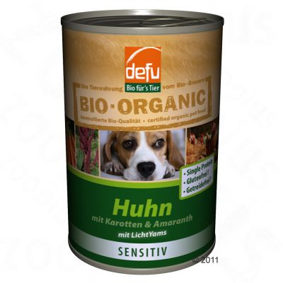 Defu Organic 50% Sensitive 6 x 400g - Chicken with Carrots & Amaranth (grain & gluten free)