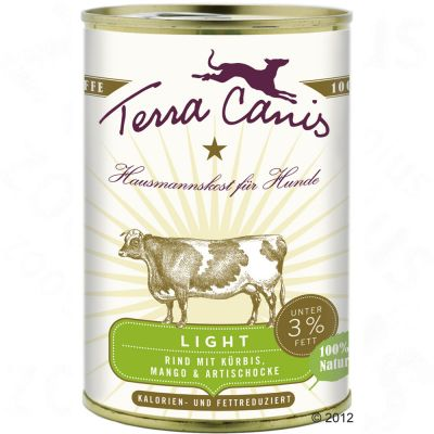 Terra Canis Light 6 x 400g - Beef with Squash, Mango & Artichokes