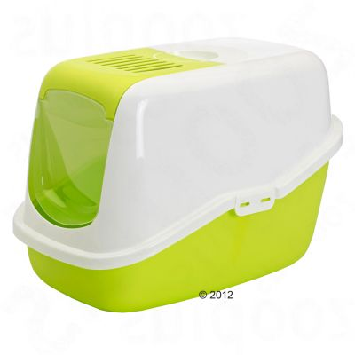 Savic Nestor Covered Litter Tray   - light green