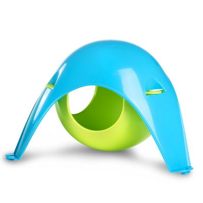 Sputnik Hanging Den - Small - Lime Green / Blue