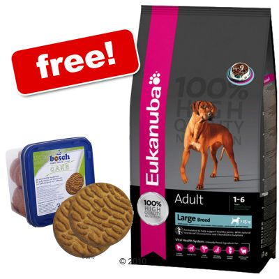 Eukanuba Large Breeds Dry Food + 1 kg Bosch Cake Free! - Adult Large Breeds Weight Control (15 kg)