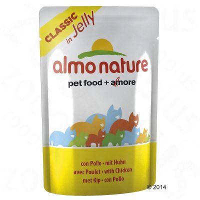6 x 55 g Almo Nature Classic in Jelly - - Pollo