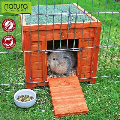 Maisonnette Natura pour rongeur et lapin - maisonnette (sans enclos) : L 50 x l 60 x H 47 cm