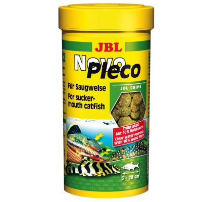 JBL NovoPleco Algae Chips - for Herbivorous Fish - 1.0 l