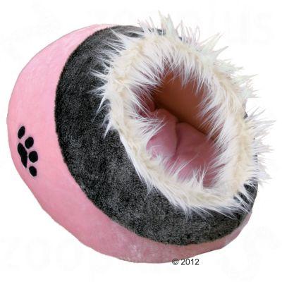 Trixie Katzenhöhle Minou, rosa/grau