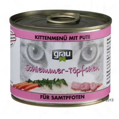 Grau Gourmet Kitten with Turkey & Carrots - 6 x 400g