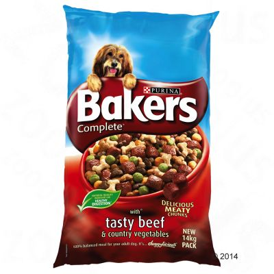 Bakers Complete Tasty Beef & Country Vegetables - Economy Pack: 2 x 14kg