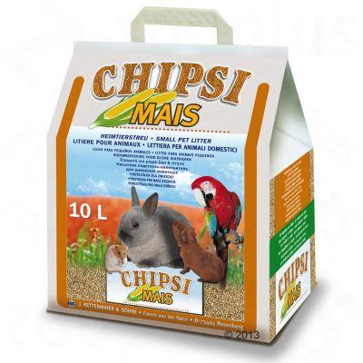 Litiere de maa¯s Chipsi pour rongeur et oiseau - lot de 2 x 10 L (2 x environ 4,5 kg)