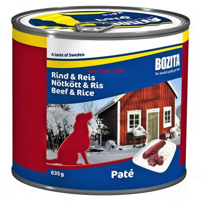 6 x 635 g Bozita Canned Food - Beef & Potatoes