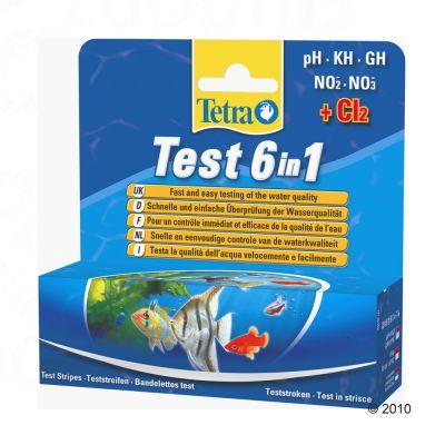 Bandelette de contrôle de l´eau TetraTest 6 en 1- 25 bandelettes