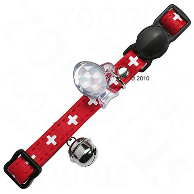 Hunter Cat Collar Swiss - red/black