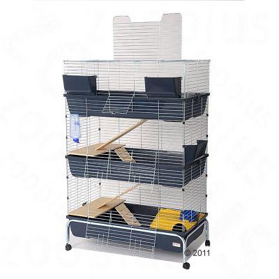 Cage Essegi Baffy 100 a 3 niveaux pour rongeur - L 100 x l 53 x H 150 cm
