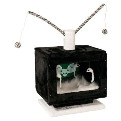 TV Cat Tree - black / white