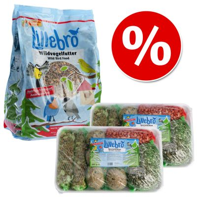 Lillebro Wild Bird Food Winter Set - Wild Bird Feed + 2 x Speciality Mix