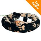 Trixie Sammy Snuggle Bed black / beige - Diameter: 90 cm