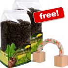 JR Farm Grainless Complete Dwarf Rabbit + Play Rope Free! - 2 x 1.35 kg + Cotton Play Rope Free! - Small Pet Supplies