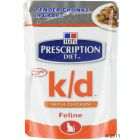 Hill's Prescription Diet Feline k/d Chicken Pouches - 12 x 85 g