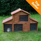 Outback Rabbit Hutch Castle with Run - 175 x 70 x 110 cm (L x W x H) (2 parcels*)