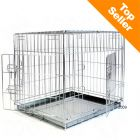 Double Door Transport Cage - Size M: 78 x 55 x 61 cm (L x W x H)