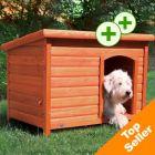 Trixie Natura Flat Roof Dog Kennel - M: 85 x 58 x 58cm (L x W x H)