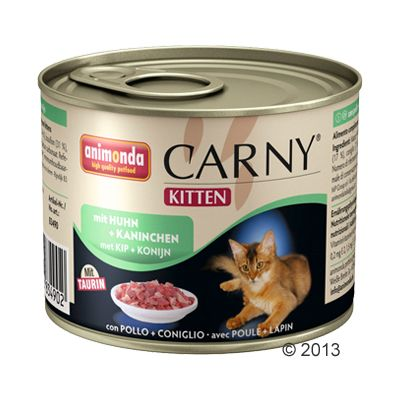 Animonda Carny Kitten 6 x 200g - Beef and Turkey Heart