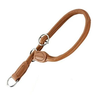 Hunter Round & Soft Dog Collar - Cognac - Size 55