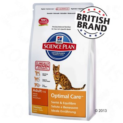 Hill's Science Plan Adult Cat Optimal Care - Chicken - 10kg