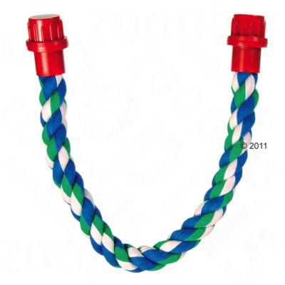 Corde en coton pour rat et oiseau - L 37,5 x l 1,6 cm (3 cordes)