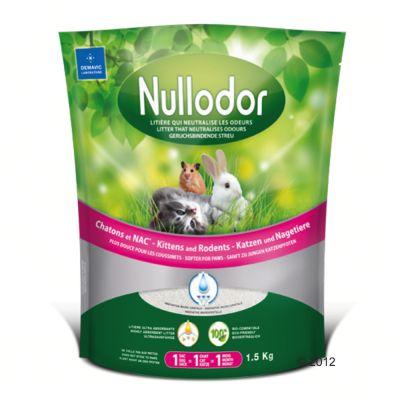 Litiere de silice Nullodor pour chaton et rongeur - 3 x 1,5 kg