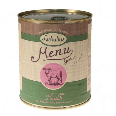 Lukullus Menu Gustico Veal with Oats, Pear & Leeks - 6 x 400g